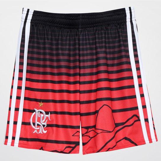 4a76a0e15101d Calção Flamengo Infantil III 2016 Adidas - Preto+Vermelho