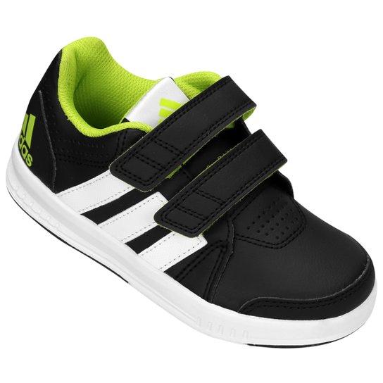 ac7a69d34 Tênis Adidas Lk Trainer 7 Cf K Synth Infantil - Preto+Verde Claro