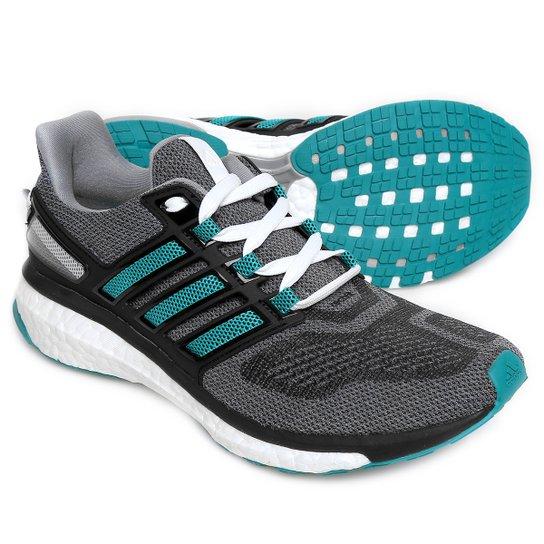 Tênis Adidas Energy Boost 3 Masculino - Cinza e Verde Água - Compre ... 9ef1d4f1d470f