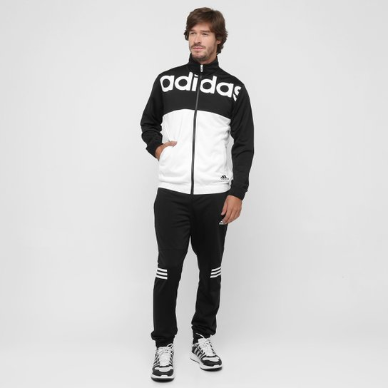 3a9f14647 Agasalho Adidas Bts Knit Masculina - Preto+Branco