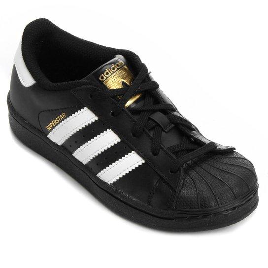 6d9e9e0e517 Tênis Adidas Superstar Foundation El Infantil - Preto e Branco ...