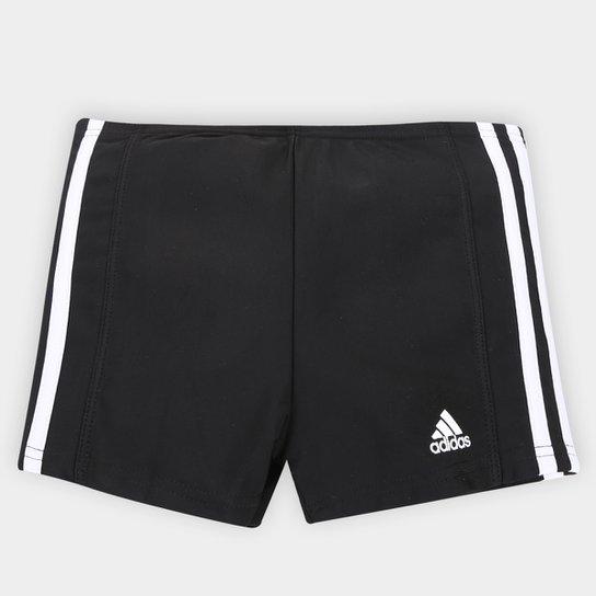 5eee5a440cf Sunga Adidas Boxer Infinitex 3S Infantil - Preto e Branco - Compre ...