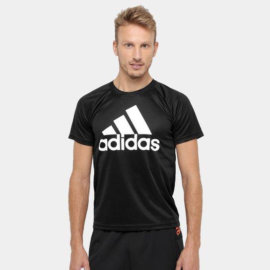 af3941328cd Camiseta Adidas M2M Logo Masculina - Preto e Branco - Compre Agora ...