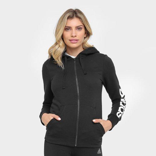 c46a49e3c9c Moletom Adidas Essentials Linear Fullzip Feminino - Compre Agora ...