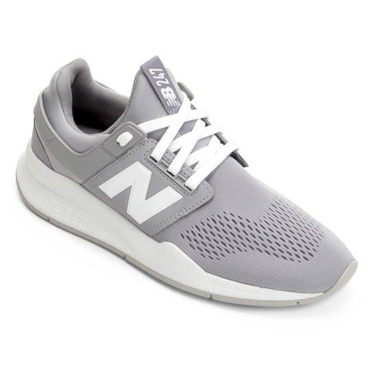 187cb18c644 Tênis New Balance 247 Feminino - Cinza e Branco - Compre Agora
