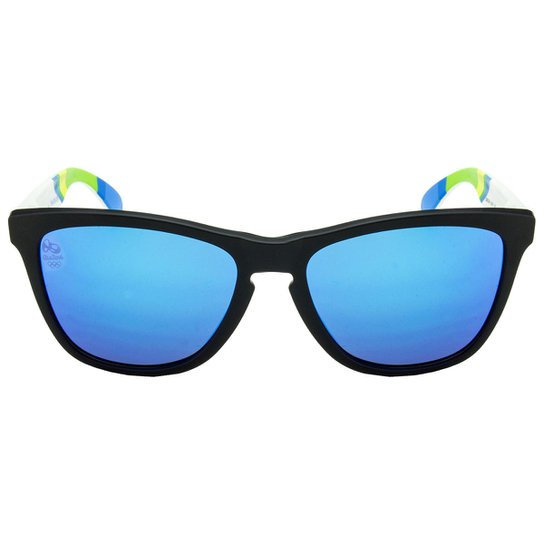 41c88caec8fbc Óculos de Sol Oakley Frogskins OO9013 Brazil Olympics Collection - Matte  Black Matte White