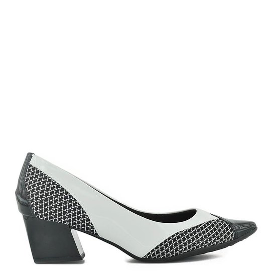 e2ba774044 Sapato Piccadilly Verniz Preto   Branco - Compre Agora