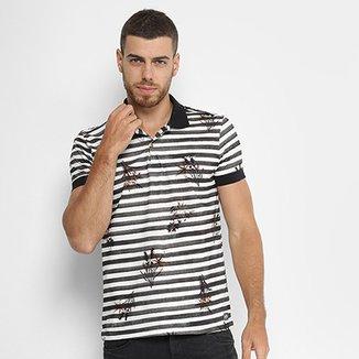 Camisa Polo Colcci Listrada Estampada Floral Masculina 24742ece50b4b