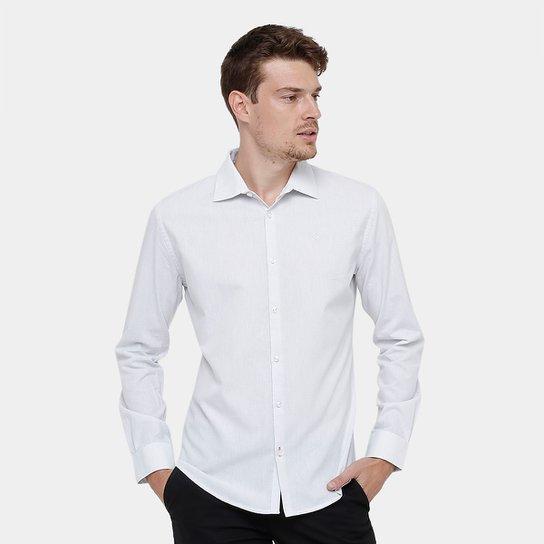 Camisa Social Forum Bordado Masculina - Compre Agora   Zattini c801c5ee03