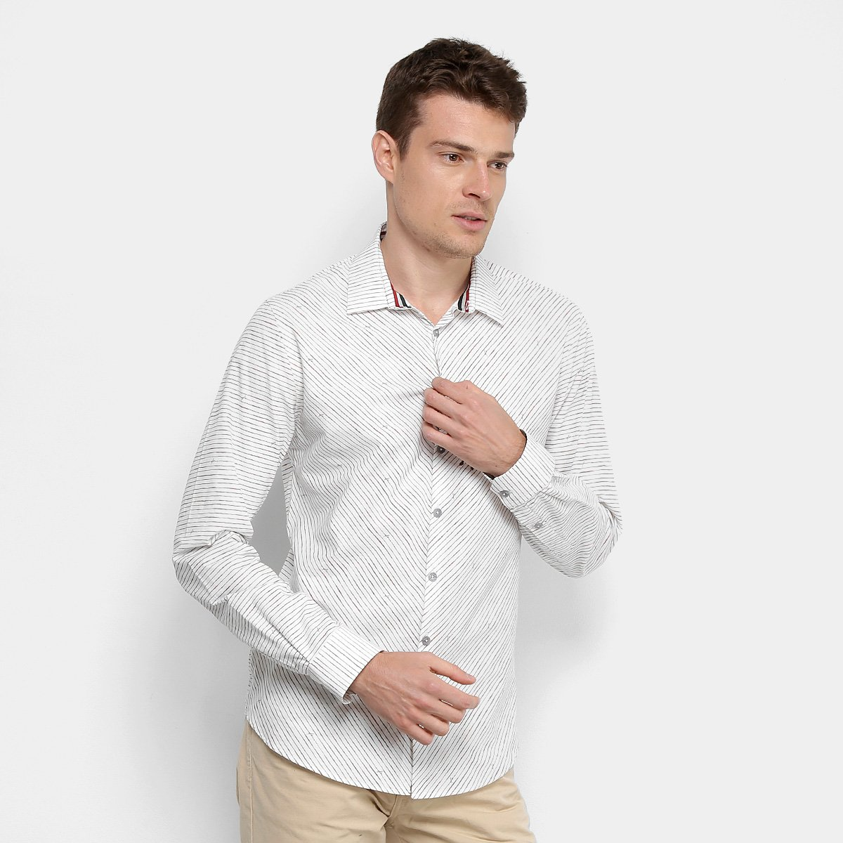 a3e88671ca Camisa Forum Estampada Smart Masculina