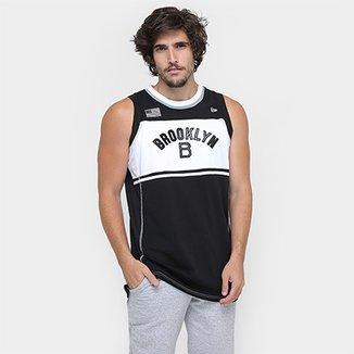 Camiseta Regata New Era Stripes 3 Brooklyn Dodgers Co db713a7d614