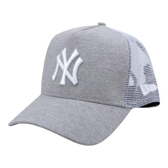 Boné New Era MLB New York Yankees Aba Curva 940 Af Sn Lic2071 Fa - Cinza 61c1d6bb31b