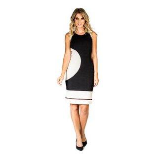 1fdb57a4f Vestido Recortes Bicolor Lucidez