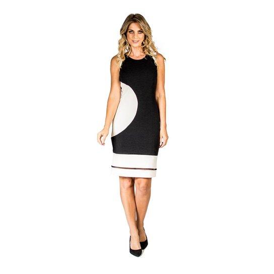 5e04d770a Vestido Recortes Bicolor Lucidez - Preto e Branco - Compre Agora ...