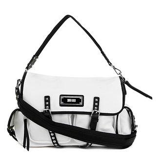 158efee39 Bolsa Santa Lolla Handbag Aplique Spikes Alça Transversal Feminina