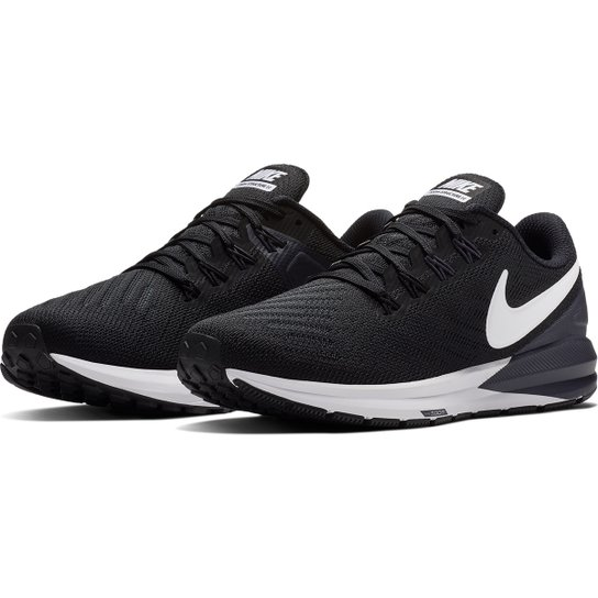 f1b423d9e3a138 Tênis Nike Air Zoom Structure 22 Feminino - Preto e Branco | Zattini