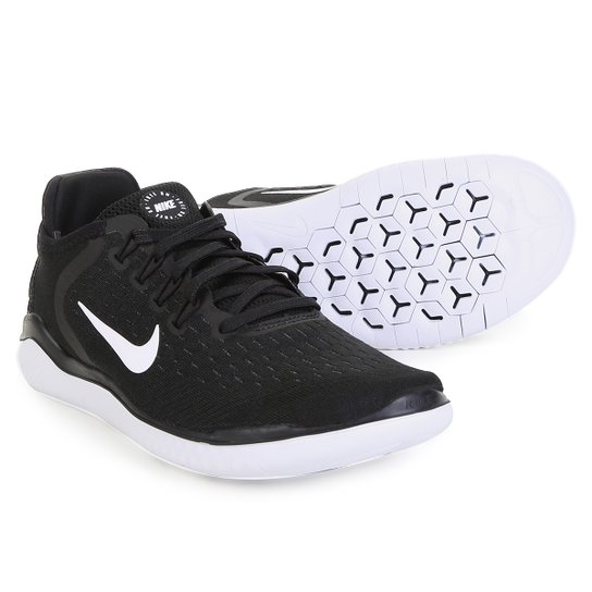 8227f2127a0 Tênis Nike Free Rn 2018 Feminino - Preto e Branco - Compre Agora ...