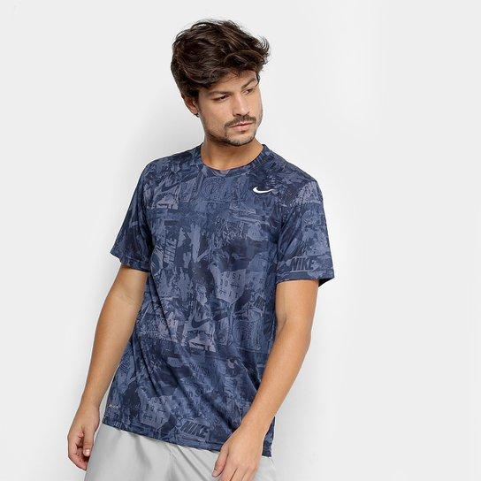 6a3f29b626 Camiseta Nike Dry Masculina - Preto e Branco - Compre Agora