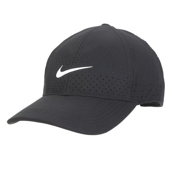 dd9823f3b Boné Nike Aba Curva Arobill L91 Cap - Preto e Branco - Compre Agora ...