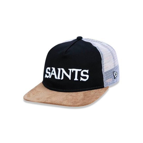 Boné 950 Original Fit New Orleans Saints NFL Aba Reta Snapback New Era -  Preto+ 07b6aa1e434