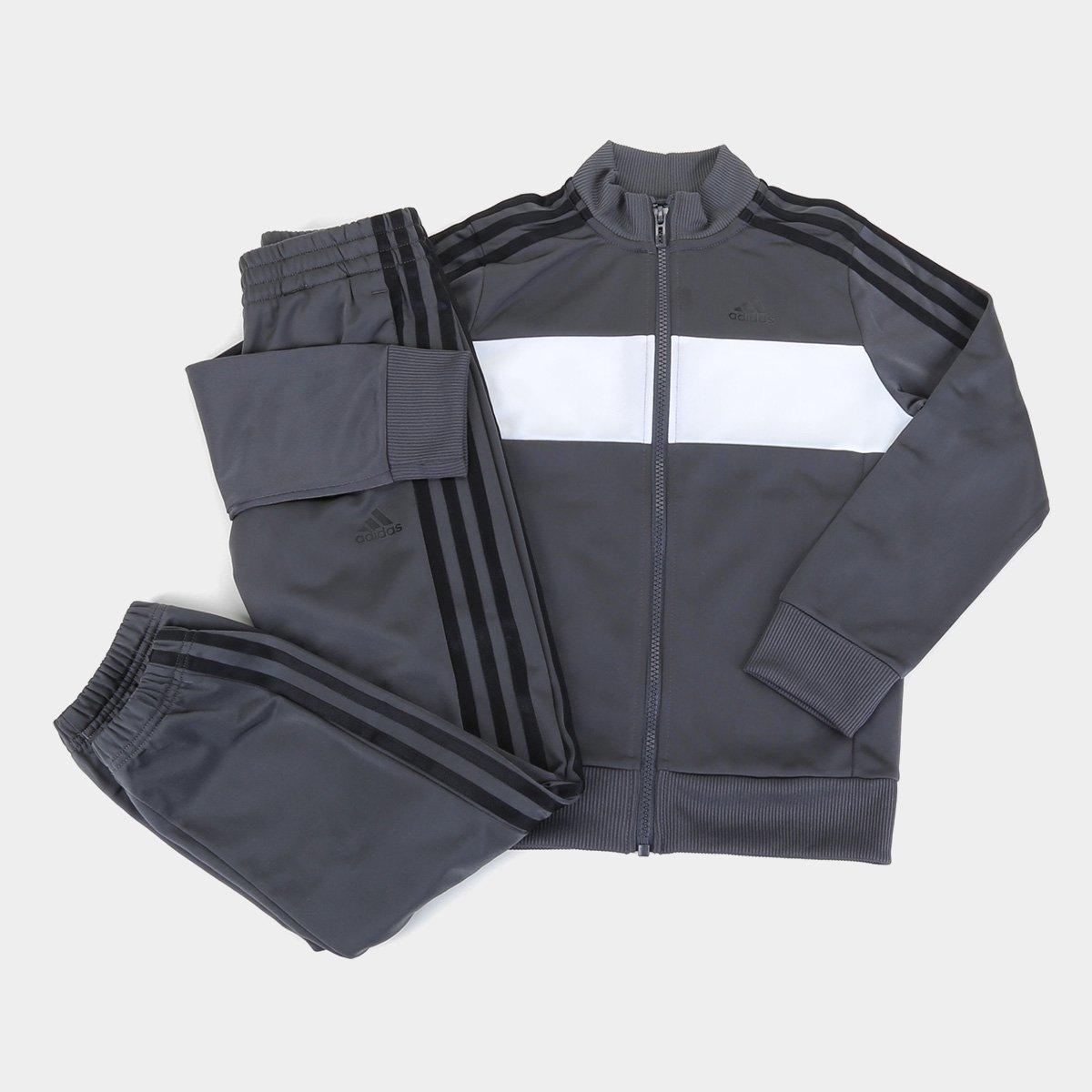Conjunto Agasalho Infantil Adidas Tiberio Masculino