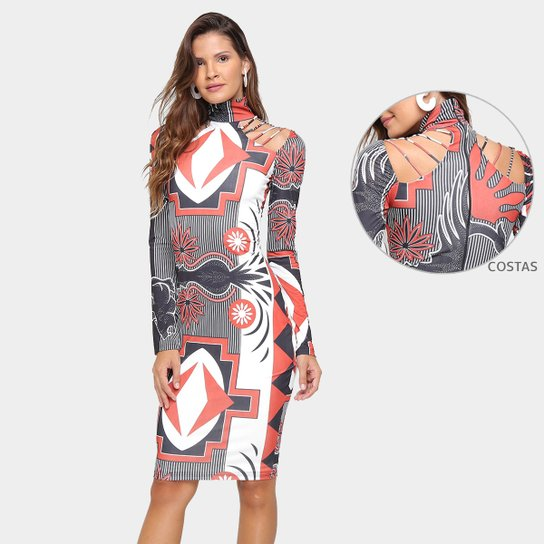 4fb19cef2 Vestido Morena Rosa Midi Estampado - Compre Agora | Zattini