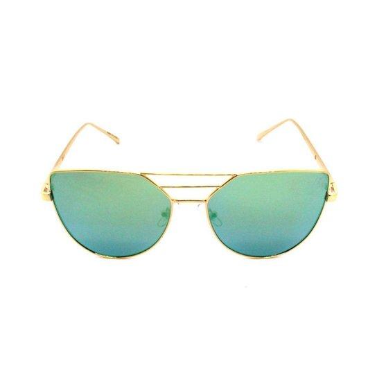 a7d0a1b472949 Óculos de Sol Khatto Cat Laguna - Dourado e Verde - Compre Agora ...