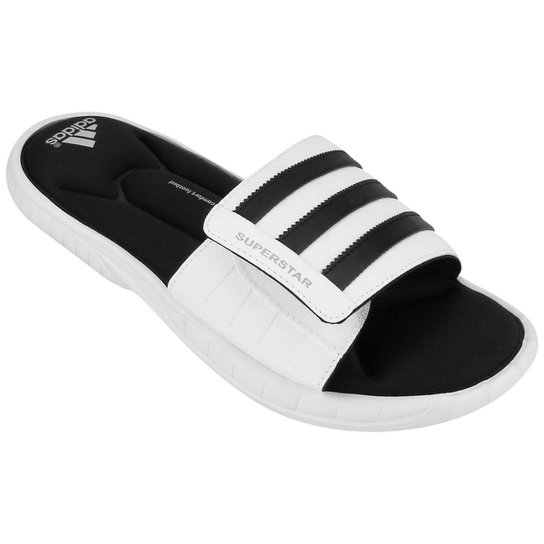 the latest f9629 b6419 Chinelo Adidas 3G Slide - Branco+Preto