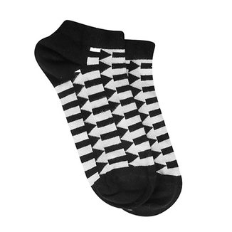7a52493a1 Meia Soquete Happy Socks Direction Low Feminina