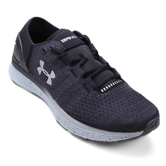 e583597f52 Tênis Under Armour Charged Bandit 3 Masculino - Cinza e Preto ...
