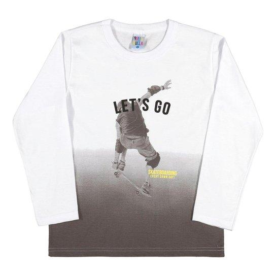2264241139 Camiseta Mescla Banana-Infantil Menino-Meia Malha-35856-60 - Branco+