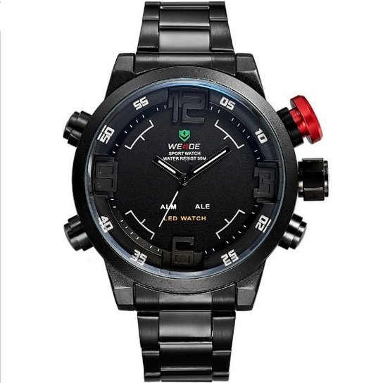 de0e231cbc7 Relógio Weide Anadigi WH-2309B - Branco e Preto - Compre Agora