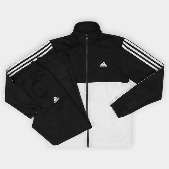 Agasalho Adidas Back 2 Basic 3S Masculino - Branco e Preto - Compre ... eaa4e79fd47af