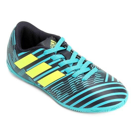 50845518e9 Chuteira Futsal Infantil Adidas Nemeziz 17.4 IN - Azul Claro+Marinho