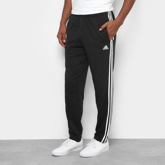 14dbc7570 Calça Adidas Ess 3S Coft Masculina - Branco e Preto - Compre Agora ...