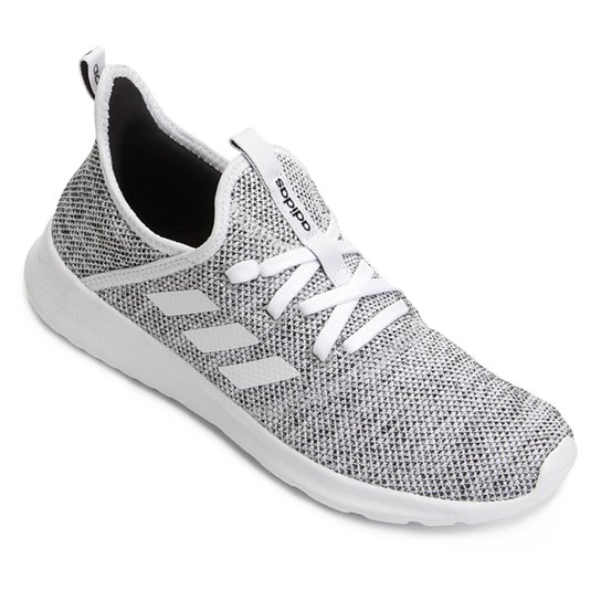 9754ab873bc Tênis Adidas Cloudfoam Pure W Feminino - Branco e Preto - Compre ...