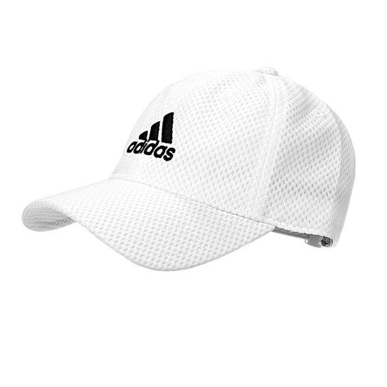 1da9b3476ca3c Boné Adidas C40 Climacool Aba Curva - Branco e Preto | Zattini