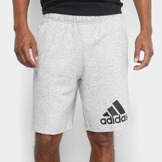 Bermuda Moletom Adidas Knit Masculino - Cinza e Preto - Compre Agora ... 7550976617e7f