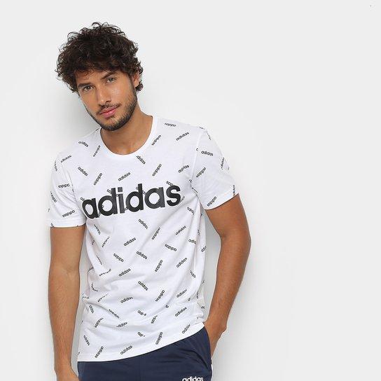 128cb83c095 Camiseta Adidas AOP Masculina - Branco e Preto - Compre Agora