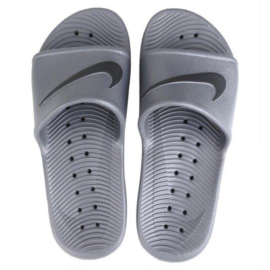 pretty nice 99899 aa75e Sandália Nike Kawa Shower - Cinza+Preto