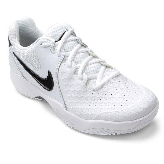 e948eb445 Tênis Nike Air Zoom Couro Resistance Masculino - Branco e Preto ...