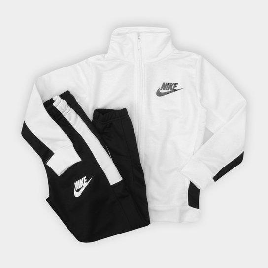 946572c1562be Agasalho Infantil Nike Nsw Trk Suit Pac Poly Masculino - Branco e ...