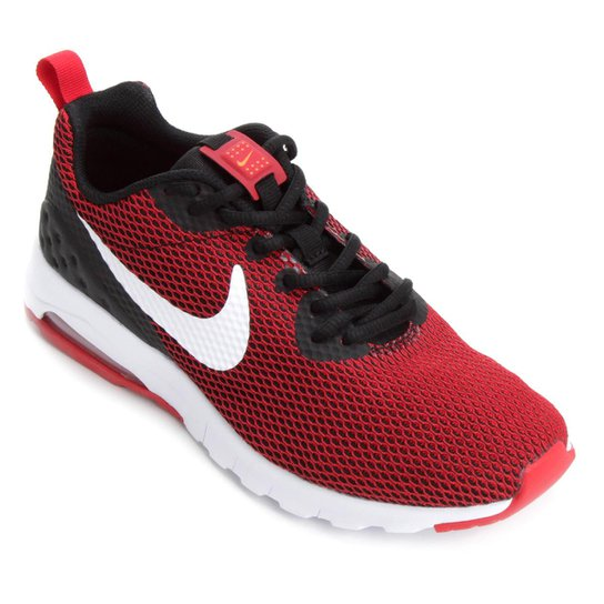 4a5f0bb4d71 Tênis Nike Air Max Motion Low Mesh Masculino - Vermelho+Preto