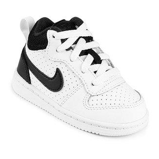 989a74d2080 Tênis Infantil Couro Nike Court Borough Mid