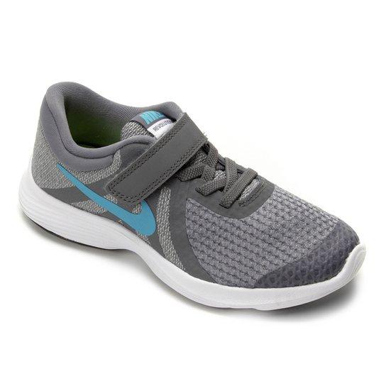 buy popular 9e9c6 22e95 Tênis Infantil Nike Revolution 4 Masculino - Cinza e Azul   Zattini