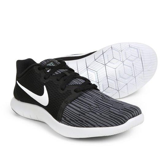 b30d89879fdd9 Tênis Nike Flex Contact 2 Feminino - Branco e Preto - Compre Agora ...