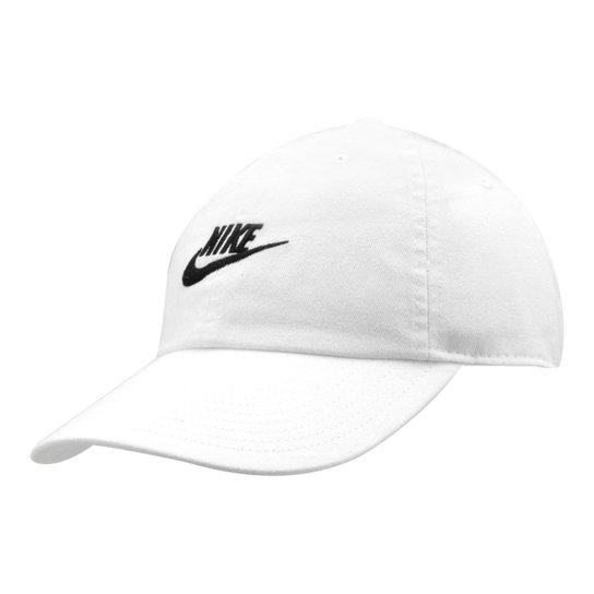 Boné Nike Aba Curva U Nsw H86 Futura Washed - Branco e Preto ... c5ac8dfcf3b