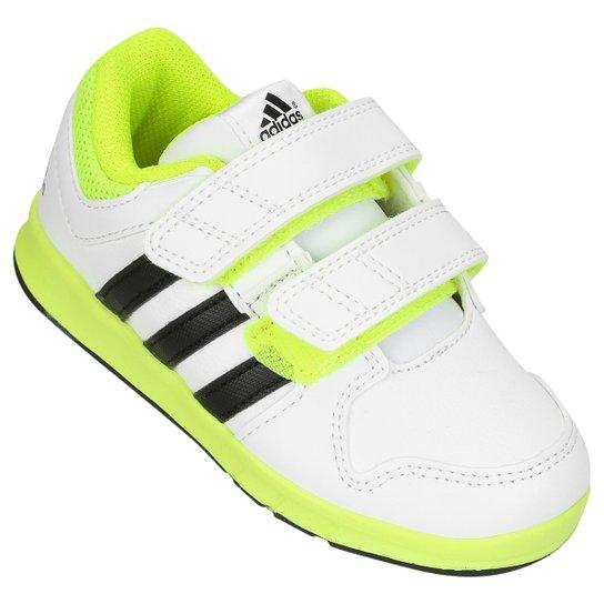d0be33034 Tênis Adidas Lk Trainer Infantil - Branco+Verde Limão