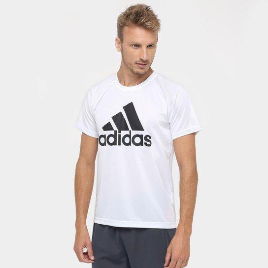 1163198b9c4 Camiseta Adidas M2M Logo Masculina - Branco e Preto - Compre Agora ...
