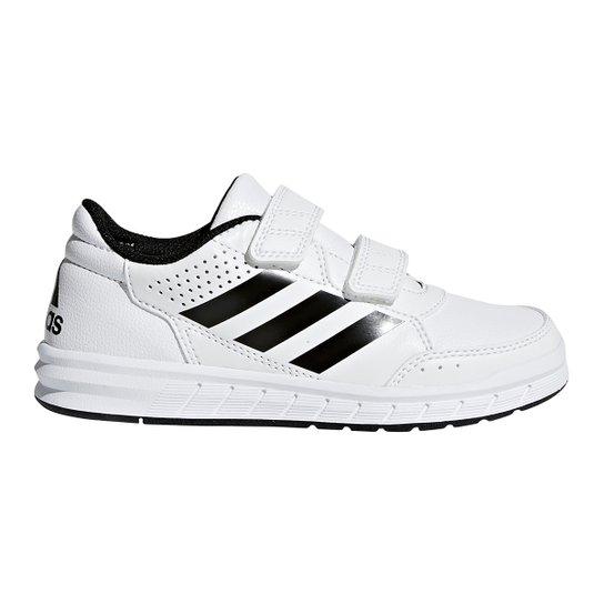 38e67a0c9b Tênis Infantil Adidas Altasport Cf K Velcro - Branco e Preto ...